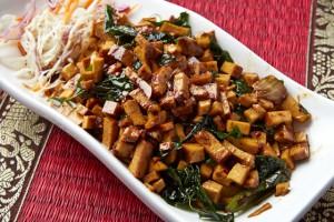素食罗勒炒豆腐